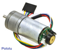 9.7:1 Metal Gearmotor 25Dx48L mm HP 6V with 48 CPR Encoder
