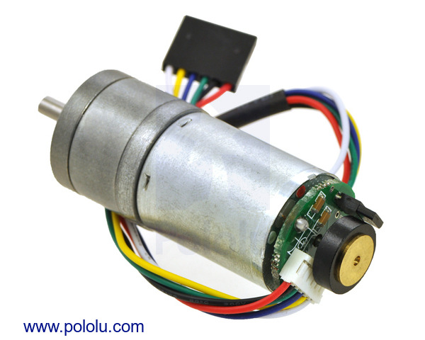 227:1 Metal Gearmotor 25Dx68L mm MP 12V with 48 CPR Encoder (No End Cap)