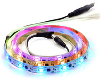 Addressable RGB 30-LED Strip, 5V, 1m, (Low-Speed TM1804)