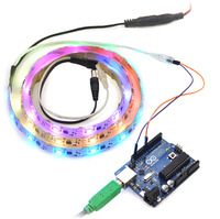 Controlling an addressable RGB LED strip with an Arduino.