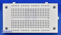 270-point solderless breadboard, top view.