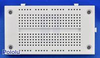 270-point solderless breadboard, top view.