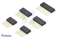 "Stackable 0.100"" Female Header Set for Arduino Shields"