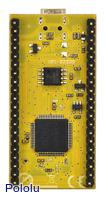ARM mbed NXP LPC11U24 development board, bottom view.
