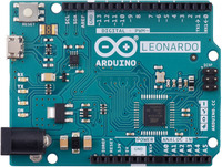 Arduino Leonardo, top view.
