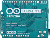 Arduino Leonardo, bottom view.