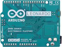 Arduino Leonardo, bottom view.