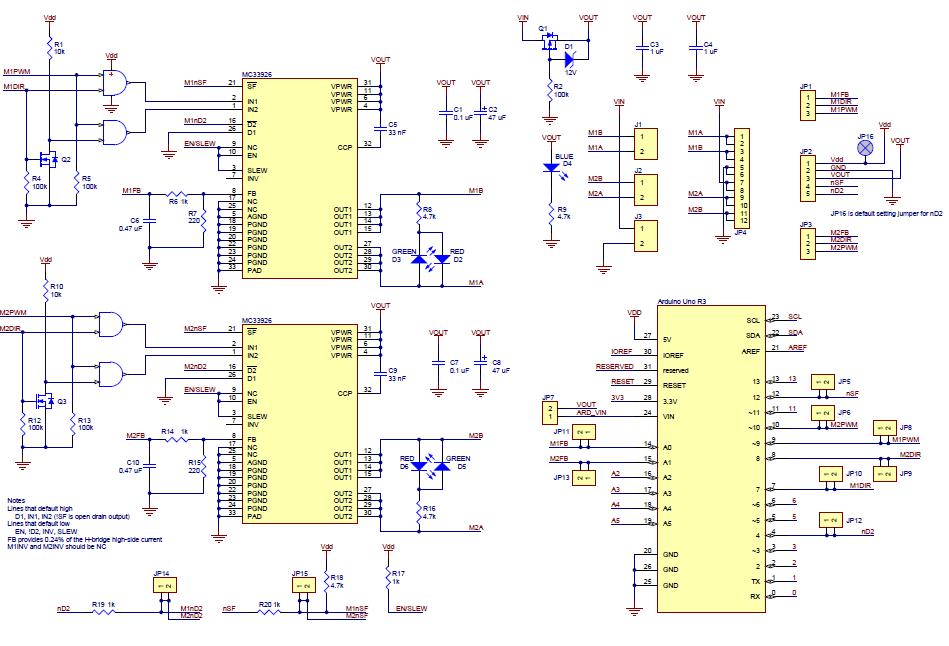 Pololu Dual Mc33926 Motor Driver Shield For Arduinorhpololu: Multi Sd Motor Wiring Diagram At Gmaili.net