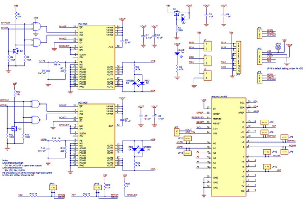 Pololu dual motor driver shield for arduino 3a 5 28v in canada schematic diagram for the dual mc33926 motor driver shield for arduino swarovskicordoba Image collections