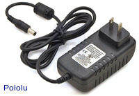 Wall Power Adapter: 9VDC, 3A, 5.5×2.1mm Barrel Jack, Center-Positive