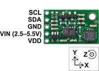 Pololu MinIMU-9 v2 gyro, accelerometer, and compass pinout.