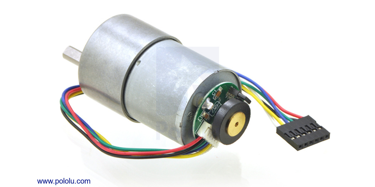 [DIAGRAM_3NM]  Pololu - 19:1 Metal Gearmotor 37Dx52L mm 12V with 64 CPR Encoder (No End  Cap) | Dc Motor Encoder Wiring Diagram |  | Pololu