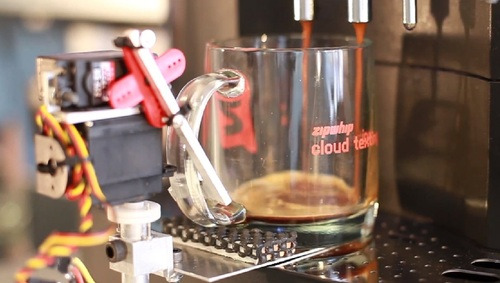 Textspresso text-enabled espresso machine