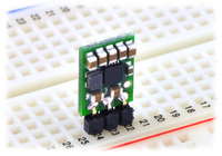 Pololu step-up/step-down voltage regulator S7V7F5 in a breadboard.