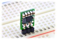 Pololu step-up/step-down voltage regulator S7V7F5 in a breadboard.