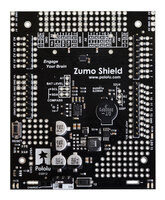 Zumo Shield for Arduino, assembled top view.