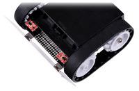 Zumo robot with QTR-1RC reflectance sensors.