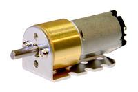 Pololu 15.5Dmm metal gearmotor bracket with a 15.5Dmm metal gearmotor.