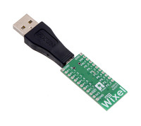 Together, the USB Adapter A to Mini-B and a Pololu Wixel wireless module can make a compact USB dongle.