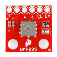 BMP085 barometric pressure sensor breakout board, top view.