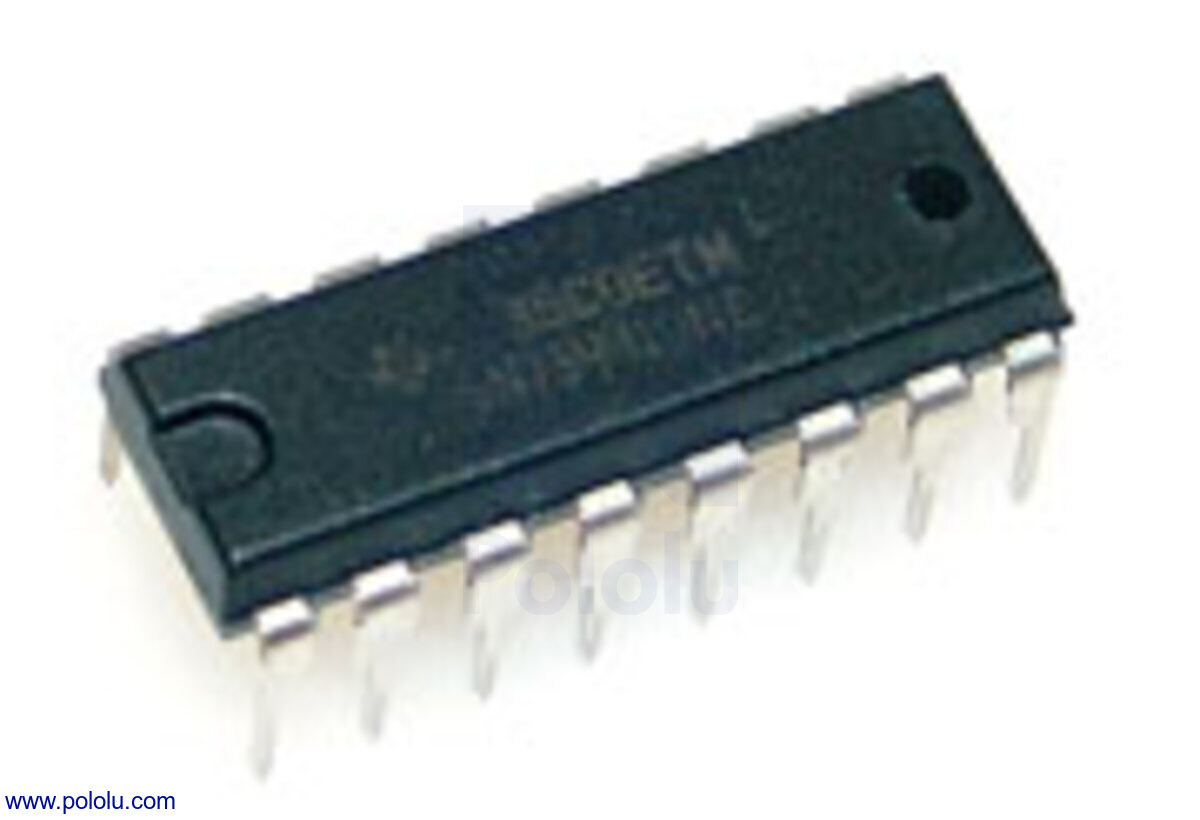 Pololu Sn754410 Motor Driver Ic Green Electrical Circuit Board With Microchips And Transistors Stock New