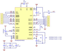 Schematic diagram for the DRV8824/DRV8825 stepper motor driver carrier.
