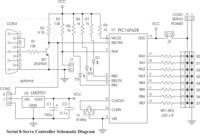 Pololu Serial 8-Servo Controller schematic diagram.
