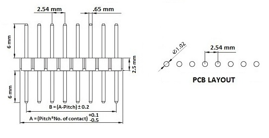 part number diameter mm height mm pin spacing mm sound