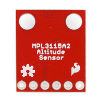 MPL3115A2 altitude/pressure sensor breakout board, bottom view.