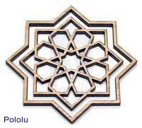Laser-cut architectural ornament.