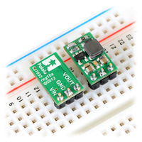 Pololu step-up voltage regulators U3V12Fx in a breadboard.