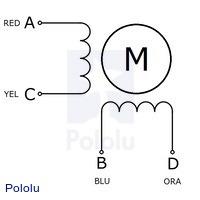 Sanyo bipolar stepper motor wiring diagram.
