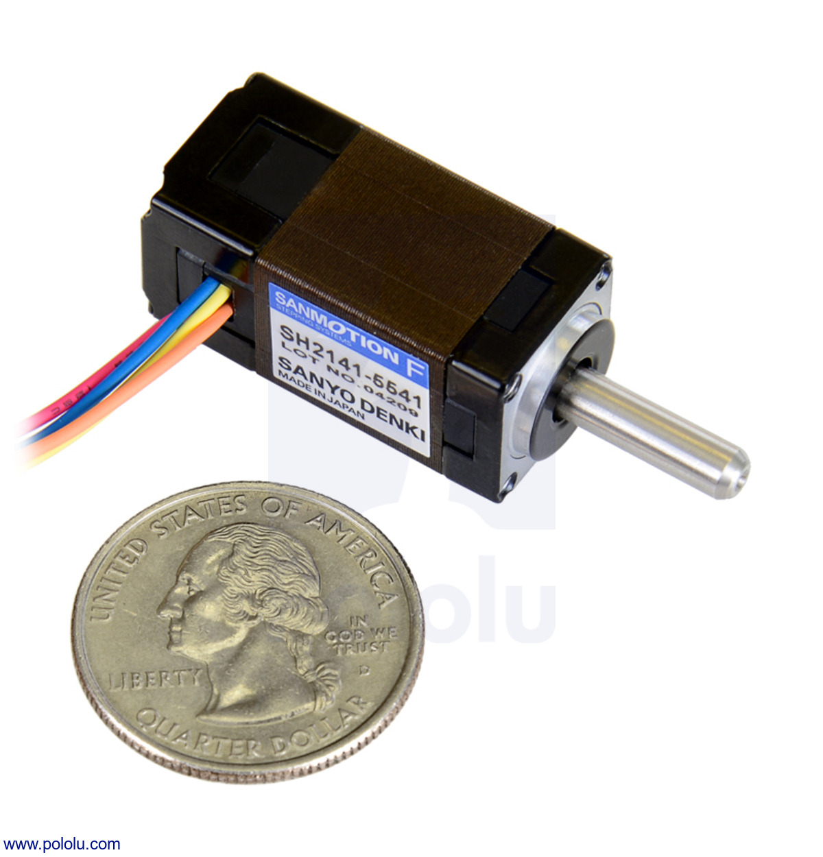 Pololu Sanyo Miniature Stepper Motor Bipolar 200 Steps Rev 14 5 Phase Wiring Diagram New
