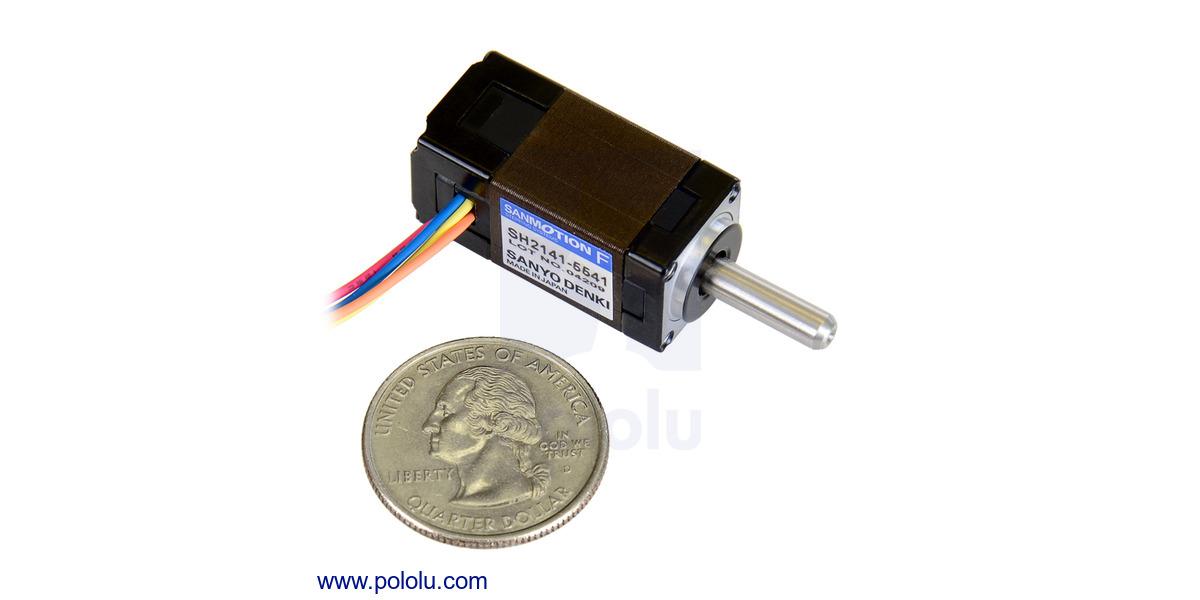 Pololu - Sanyo miniature stepper motor: bipolar, 200 steps/rev, 14 ...