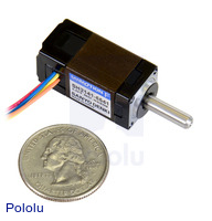 Sanyo Miniature Stepper Motor: Bipolar, 200 Steps/Rev, 14×30mm, 6.3V, 0.3 A/Phase