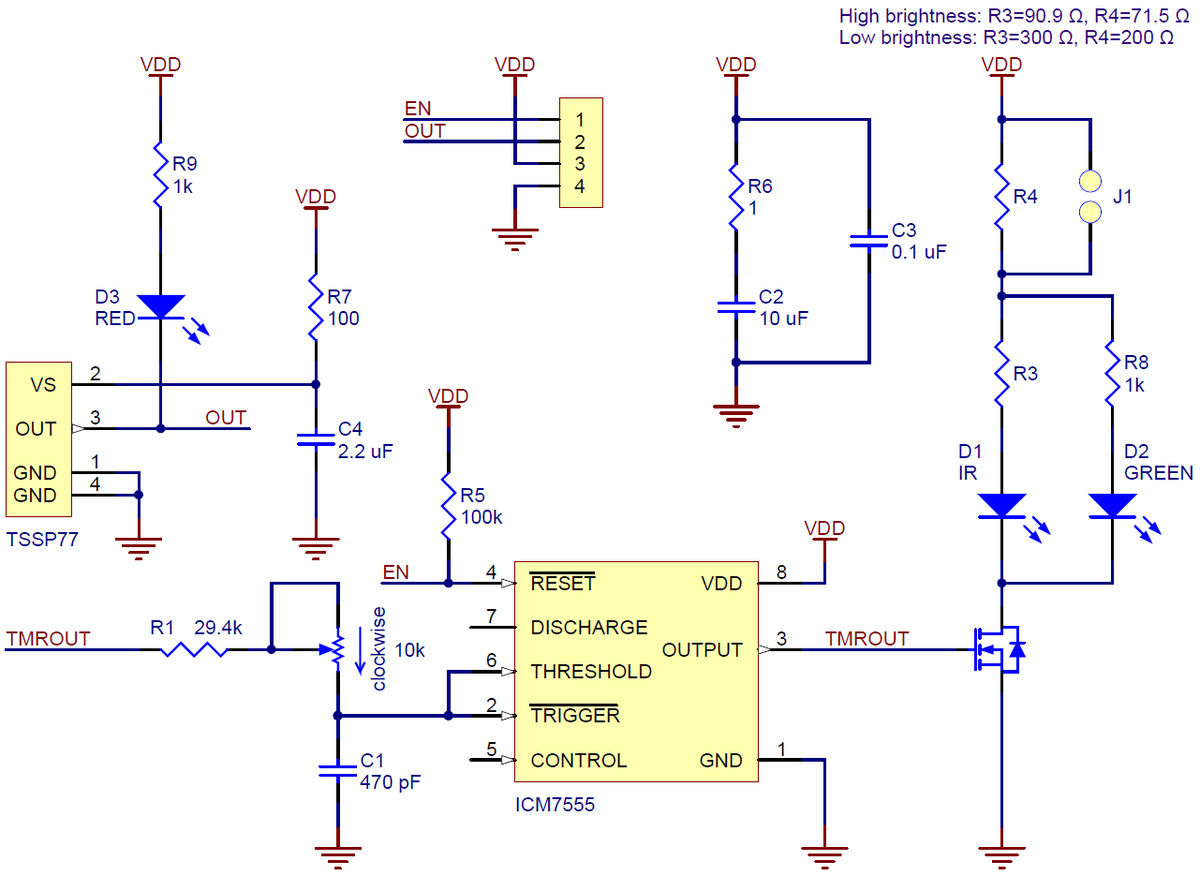Pololu Schematic Diagram For The 38 Khz Ir Proximity Sensor Circuit Original Irs05a Version