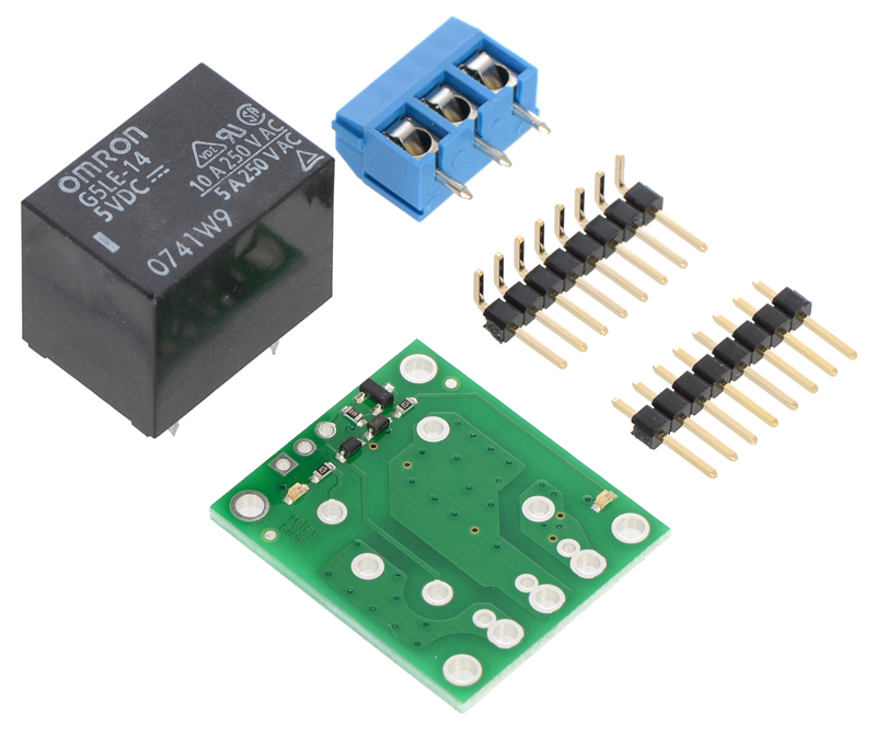 Pololu Basic SPDT Relay Carrier with 5VDC Relay (Partial Kit) on
