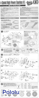 Instructions for Tamiya 72007 4-speed high power gearbox page 1.