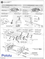 Instructions for Tamiya 72007 4-speed high power gearbox page 2.