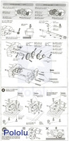 Instructions for Tamiya 72007 4-speed high power gearbox page3.