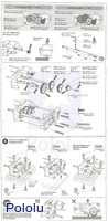 Instructions for Tamiya 72007 4-speed high power gearbox page 3.