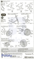 Instructions for Tamiya 72007 4-speed high power gearbox page 4.