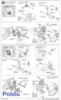 Instructions for Tamiya 72008 4-speed worm gearbox page 2.