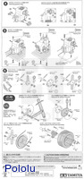 Instructions for Tamiya 72008 4-speed worm gearbox page 4.