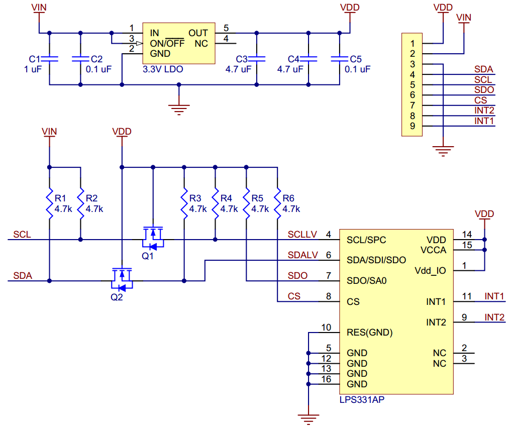 Pololu Lps331ap Pressure Altitude Sensor Carrier With Voltage