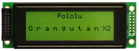 20×4 character LCD with text displayed on lines 1 and 3 (connector not included)