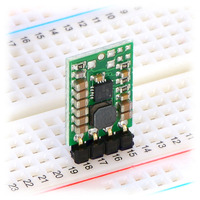 Pololu step-up/step-down voltage regulator S7V8F3 or S7V8F5 in a breadboard.