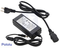 Wall Power Adapter: 5VDC, 5A, 5.5×2.1mm Barrel Jack, Center-Positive