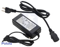 Wall Power Adapter: 9VDC, 5A, 5.5×2.1mm Barrel Jack, Center-Positive