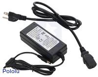 Wall Power Adapter: 9VDC, 5A, 5.5×2.1mm Barrel Jack, Center-Positive